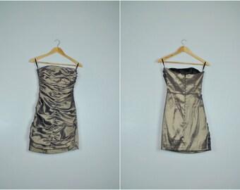 Vintage Strapless Jessica McClintock Party Dress, Vintage Semi Formal Dress