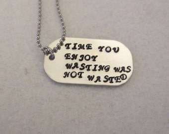 John Lennon words necklace
