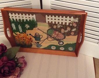 Tray/ serving tray/ fall tray/ garden tray/ display tray/ fall decor/ curiousitybarn