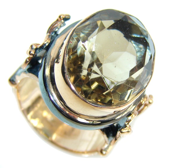 smoky topaz sterling silver ring weight 14 70g by