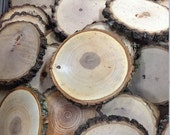 """25 qty  4"""" wood slices, rustic coasters, tree coasters, decoration,  rustic weddings, rustic wedding coasters"""""""