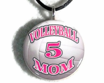 Personalized Volleyball Mom Necklace Sports Pendant