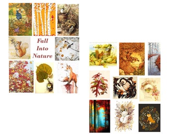 Fall Into Nature Digital Collage Sheet