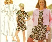 """A Culottes in 2 Lengths, Short Sleeve Top & Cropped, Collarless Jacket Pattern for Women: Sizes 10-12 Bust 32-12"""" - 34"""" • Simplicity 7684"""