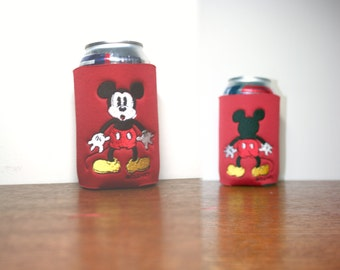 Mickey Mouse 1 red CanBottleCooler w/ Double Sided Design machine embroidered