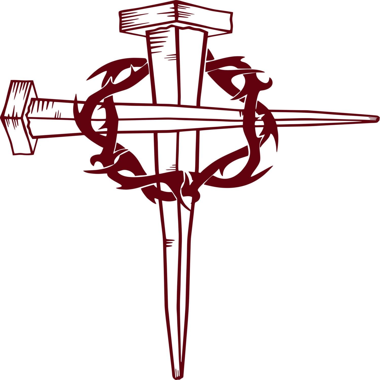 Jesus Christ Christian Cross Crown Of Thorns GOD Bible Car