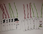 Ready to ship: Snowman tags