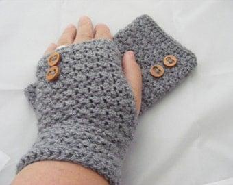 Crochet gloves, fingerless gloves, UK handmade