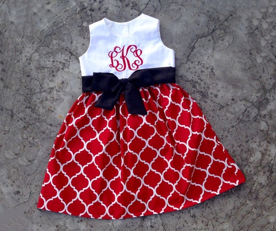Toddler girl christmas outfit monogram baby girl clothes 1st
