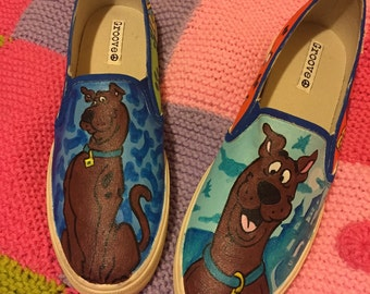Adult Hand Painted Scooby Doo Sneakers
