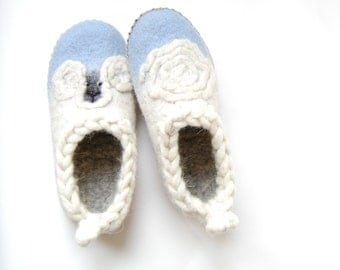 Aries art Slippers for girls ,wool slippers ,kids felted slippers ,felt gift aries zodiac 3 US 34EU