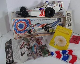 1970's Ideal Evel Kenevil Dragster w/Box