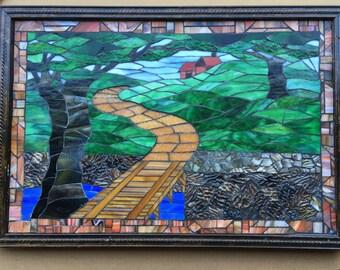 Mosaic wall hanging 18x26