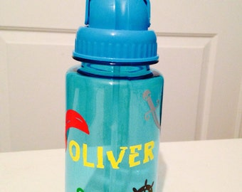 Personalized Pirate Water Bottle