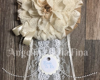 NEW Natural Bride To Be Corsage