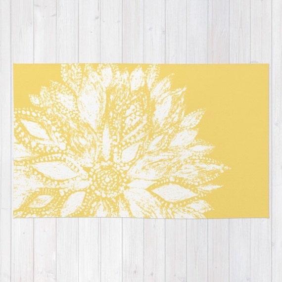 moutarde jaune fleur de tapis tapis de fleur moderne tapis. Black Bedroom Furniture Sets. Home Design Ideas