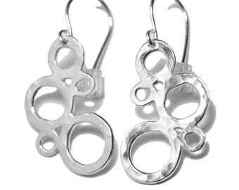 Sterling Silver bubble earrings from AWA collection
