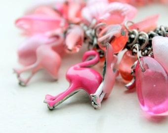 pink flamingo bracelet