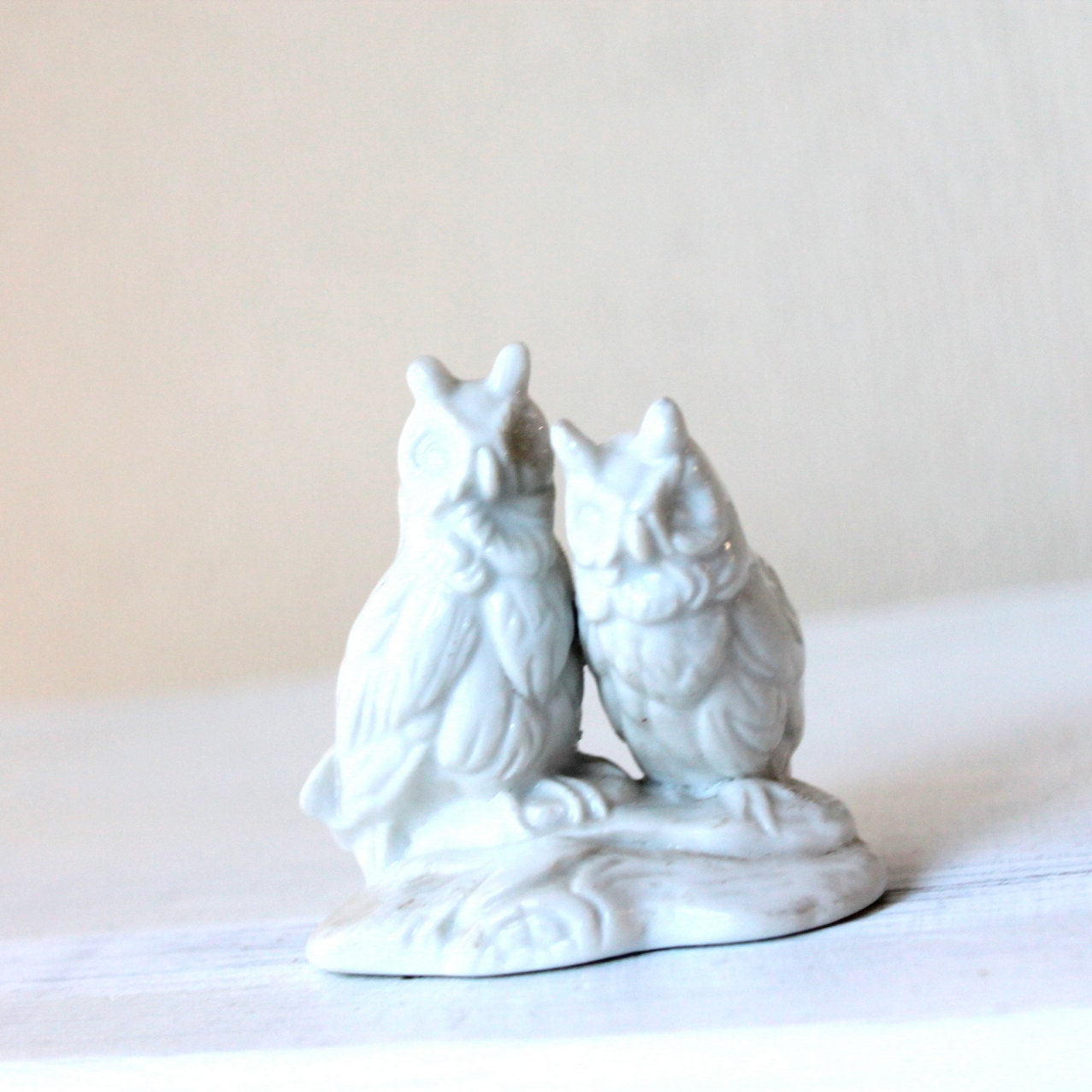 Ceramic Owls White Miniature White Porcelain Owl Statue Mini