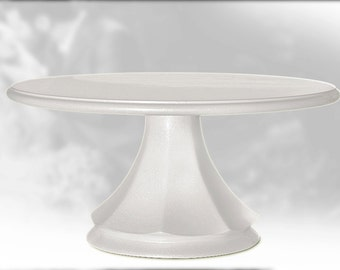 Wedding cake stand classic white pearl pedestal