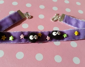 Soot Sprite choker - Spirited Away inspired kawaii cute