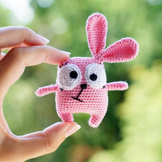 Amigurumi Bunny Keychain : Crochet Amigurumi Bunny. Amigurumi keychain handmade Pink