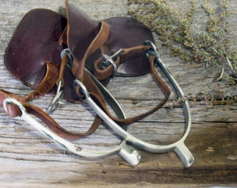 Spurs, Equestrian, Western, Horse Riding, Cowboy, Nickel Silver