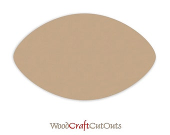 """MDF Wood Football Cutout Shapes - Sizes 15"""" to 24"""" - 1/4"""" thick"""