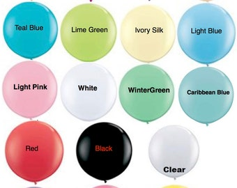 """36 inch Round Balloons """"Pick your Color"""" / Large Round Balloon Weddings Photo Props Birthday Bridal Showers Gender Reveal Geronimo Balloons"""