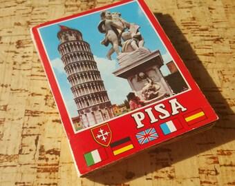 Vintage Snapshots of Pisa, Leaning Tower of Pisa, Italy