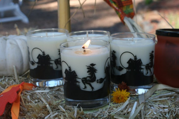 Candy Corn 8oz Soy Candle in Halloween Jar