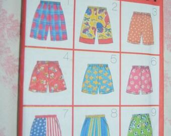 Butterick  4905 Childrens Shorts Sewing Pattern - UNCUT-   Size XS S M L ( 2 -6X)