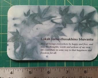 Lokah samastah sukinoh bhavantu card