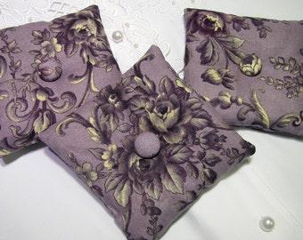 Lavender Sachet - Small Pillow Sachet Set - Lavender Home Fragrance - Set of 3 Sachets for Drawers - Housewarming - Victorian Purple Sachets