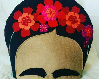 Embroidered Frida Kahlo Tea Cosy