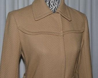 Club Monaco Classic Beige Pure Wool Coat Made in Canada