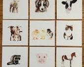Farm Animal Prints
