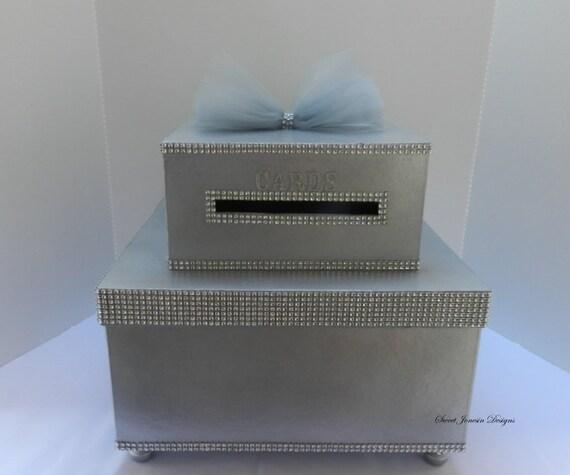 Bling Wedding Card Box Diamond Mesh Ribbon Sweet 16 – Bling Wedding Card Box