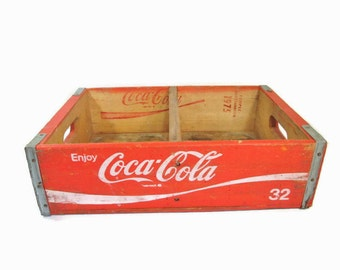 Coca Cola Wooden Crate Coke Crate Chattanooga 1975