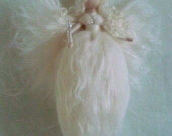 Waldorf inspired needle felted wool fairies