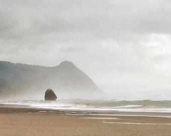 Oregon Beach Photography Beach Decor 8x10 Foggy Beach Wall Art Coastal Home Decor