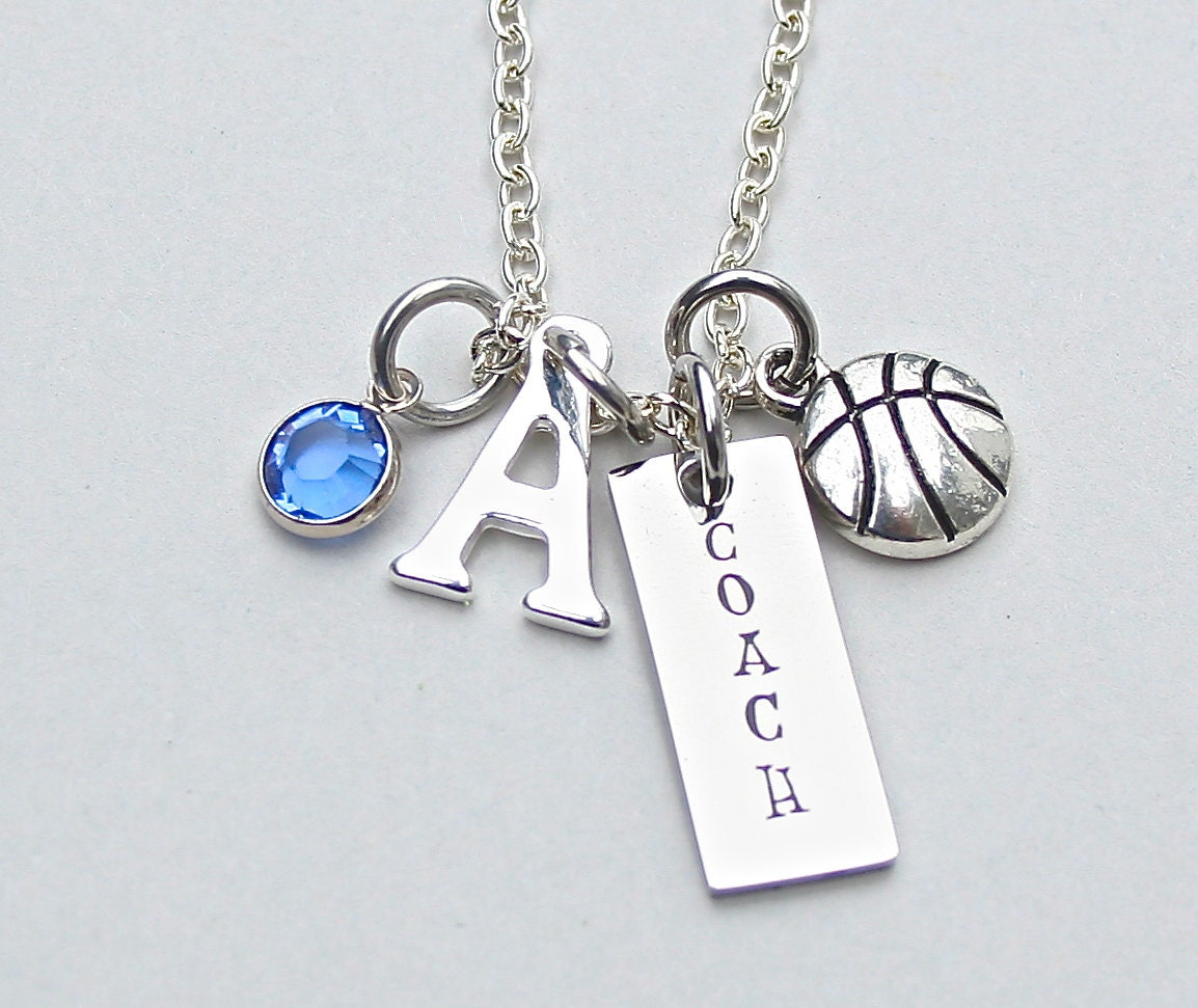 basketball coach necklace charm necklace personalize
