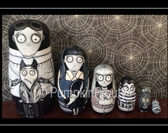 Frankenweenie nesting doll from Tim Burtons Frankenweenie movie.