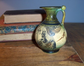 Handmade Pottery Jug Pitcher Greece Reproduction