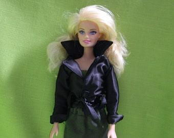 Black jacket for Barbie doll