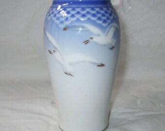 """5.5"""" Bing & Grondahl Denmark SEAGULL Vase #678, c. 1970-83"""