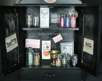 White the Druggist Apothecary cabinet