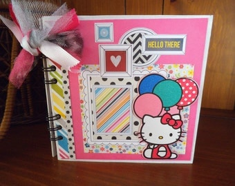 Completed scrapbook album- Hello Kitty Hello