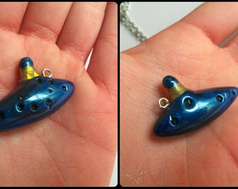 Legend of zelda ocarina pendant