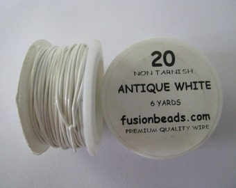 20g Antique White Colored Copper Wire Parawire 6 yards